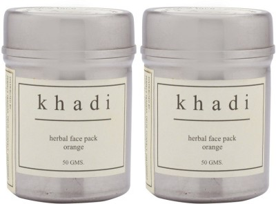 Khadi Natural Orange Facepack 50gm (Powder) Pack Of 2