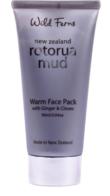 Wild ferns ROTOURA MUD WARM FACE PACK GINGER & CLOVES 90 MLL WASH WITH LIME BLOSSOM