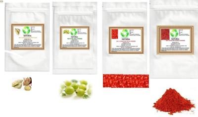 Natural COMBO OF AMLA,RED ROSE PETALS,MULTANI MITTI,RED SANDALWOOD POWDER