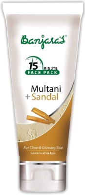 Banjaras 15 Minutes Face Pack Multani Sandal (Tube)