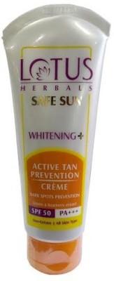 Lotus Safesun Whitening Active Tan Prevention Crème SPF-50