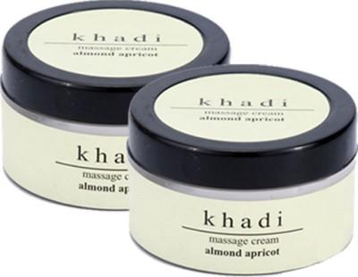 khadi Natural Almond & Apricot Massage Cream (twin pack)