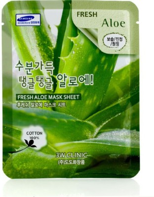 3W Clinic Cleanser Mask Sheet - Fresh Aloe