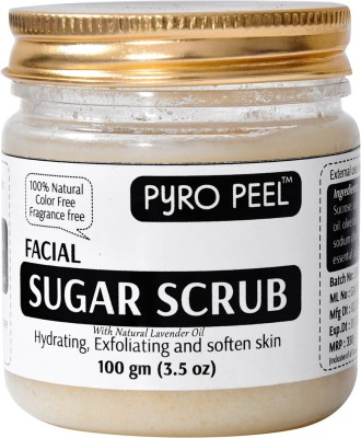 Pyro Peel Facial Sugar Scrub with Natural Lovender Oil(natural Exfolietor)