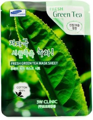 3W Clinic Cleanser Mask Sheet - Fresh Green Tea