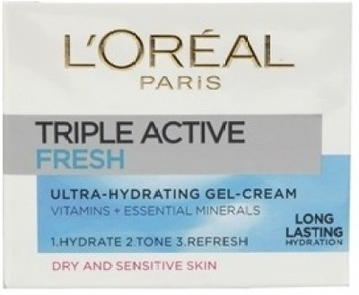 L ,Oreal Paris Triple Active Fresh Gel Cream
