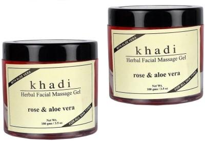 khadi Natural Herbal Facial Massage Gel Rose & Alovera