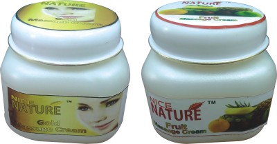 NICE NATURE COMBO PACK OF GOLD & FRUIT MASSAGE CREAM