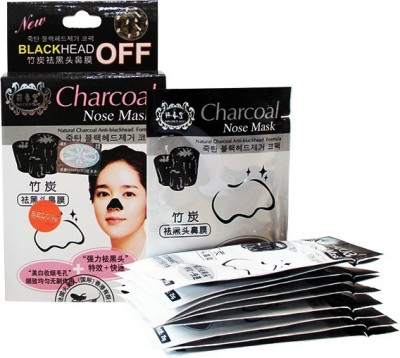 Out Of Box Charcoal Nose Mask Deep Cleansing Blackhead Remover Pore Refining(10 Pouches) 250g