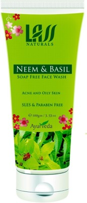 Lass Naturals Neem & Basil Soap Free Face Wash for Oily Skin