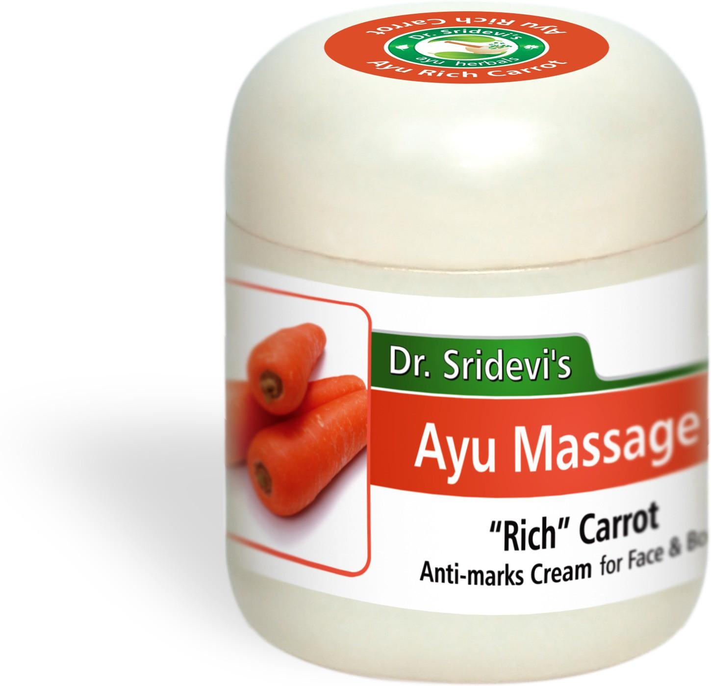 Dr. Sridevis Ayu Massage Rich Carrot Anti-Marks Cream(100 g)