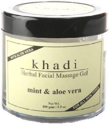 khadi Natural Herbal Facial Massage Gel - Mint & Aloe Vera