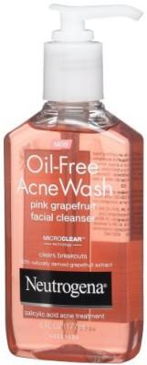 Neutrogena Oil-Free Acne Wash Facial Cleanser, Pink Grapefruit