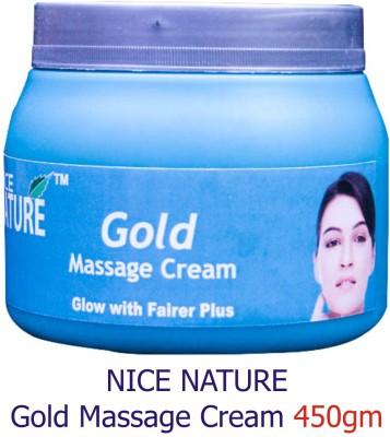 Nice Nature Gold Massage Cream 450gms Net