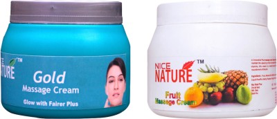 NICE NATURE COMBO PACK OF GOLD AND FRUIT MASSAGE CREAM