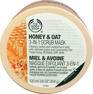The Body Shop Honey & Oat 3 In 1 Scrub Mask