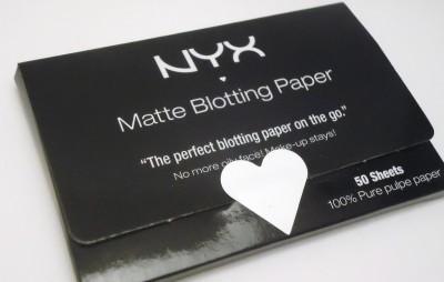 nyx matte face blotting paper