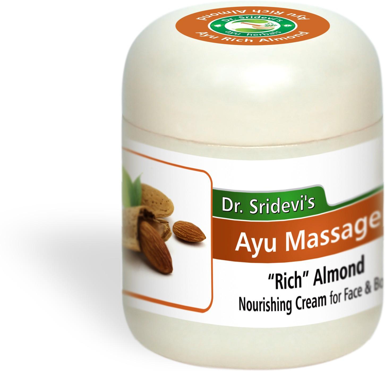 Dr. Sridevis Ayu Massage Rich Almond Nourishing Cream(100 g)