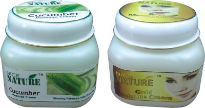 NICE NATURE COMBO PACK OF GOLD & CUCUMBER MASSAGE CREAM