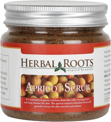 Herbal Roots Anti Blemish, Blackhead Remover And Skin Lightening Apricot Scrub For Face Treatment
