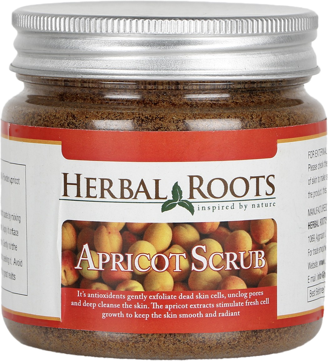 Herbal Roots Anti Blemish, Blackhead Remover And Skin Lightening Apricot Scrub For Face Treatment(100 g)