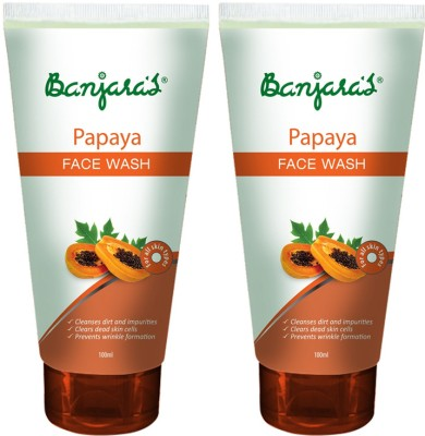 Banjaras Papaya 2 Packs Face Wash(100 ml)