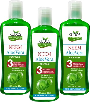 Kudos Neem Aloevera Face Wash Ayurvedic X3 Pack Face Wash
