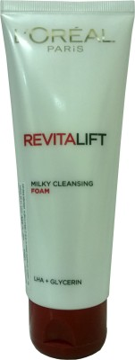 L ,Oreal Paris Revitalift Milky Cleansing Foam LHA+Glycerin Face Wash