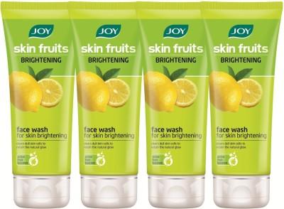 Joy Skin Fruits Fairness (Lemon) (Pack of 4 x 50 ml) Face Wash