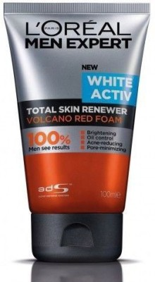 L ,Oreal Paris Men Expert White Activ Volcano Red Foam Face Wash