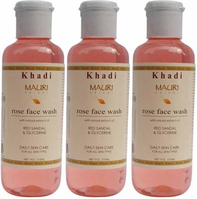 Khadimauri Combo Pack of 3 - Rose Face Wash