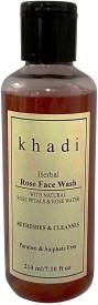 Khadi Herbal Rose face ( Praben & Sulphate Free ) Face Wash(210 g)