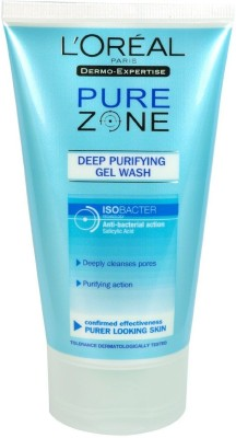 L ,Oreal Paris Pure Zone Deep Purifying Gel Wash Face Wash