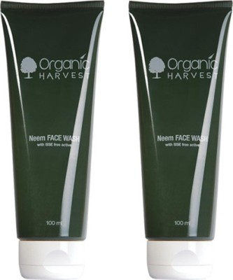 Organic Harvest Neem Face Wash-Pack of 2 200ml Face Wash