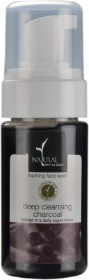 Natural Bath & Body Deep Cleansing Charcoal Foaming  Face Wash