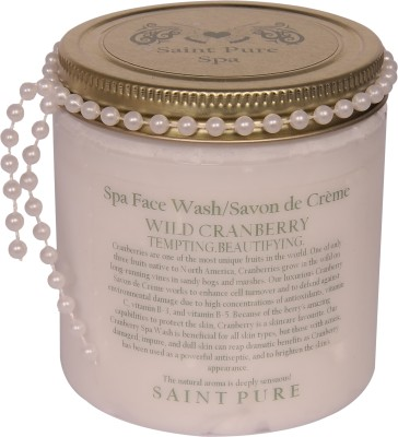 Saint Pure Wild Cranberry Beautifying Spa Face Wash