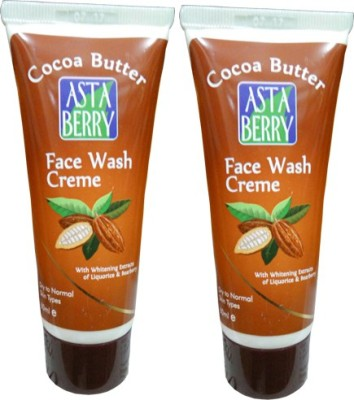 Astaberry Cocoa Butter Creme-Pack of 2 Face Wash