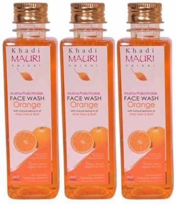 Khadimauri Orange Face Wash - Pack of 3 - Premium Herbal Face Wash