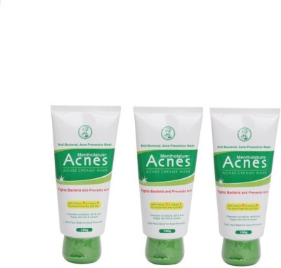 Acnes Creamy Wash-Pack of 3 (100 g each) Face Wash