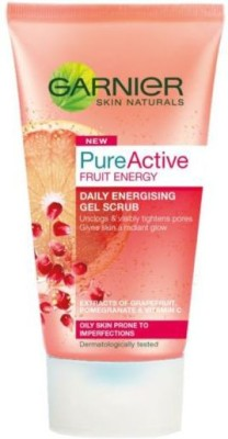 Garnier Pure Active Fruit Energy Gel Scrub (MADE IN FRANCE) Face Wash