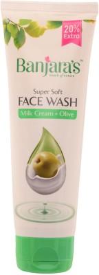 Banjaras Milk Cream Olive  Face Wash