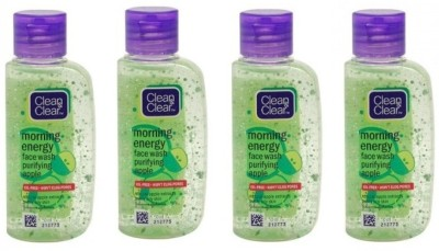 Clean & Clear Morning Energy Purifying Apple - (Pack of 4) Face Wash