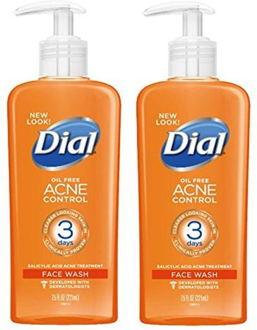 Dial (2 Pack)- Acne Control Deep Cleansing  Face Wash(221.775 ml)