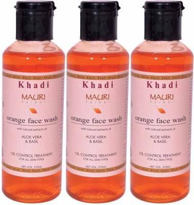 Khadimauri Premium Pack of 3 - Orange Face Wash