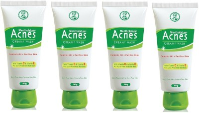 Acnes Creamy Wash- Pack of 4 (50 g each) Face Wash