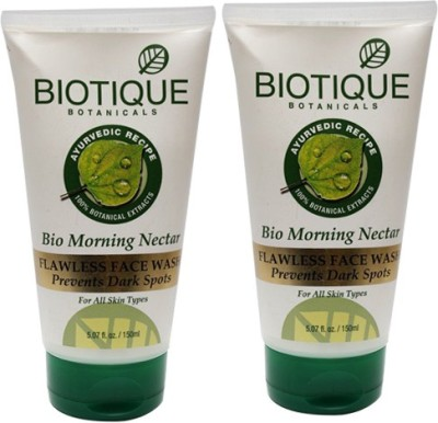 Biotique Bio Morning Nectar Flawless Face Wash Pack of 2 Face Wash