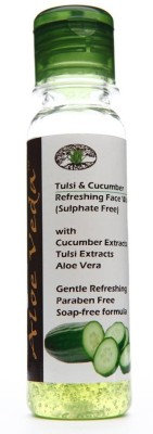 Aloe Veda Tulsi & Cucumber Refreshing Face Wash - Sulphate Free Face Wash