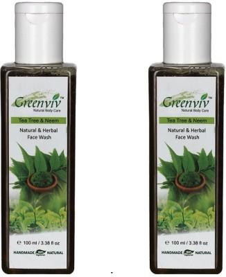 Greenviv Natural Neem & Tea Tree  Face Wash