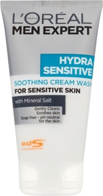 L ,Oreal Paris Men Expert Hydra Sensitive Soothing Cream Wash Large Size Face Wash
