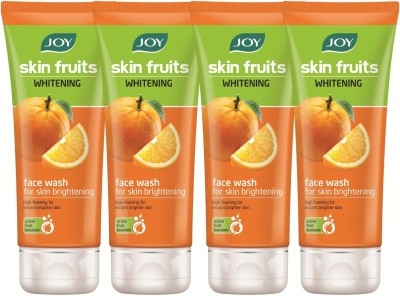 Joy Skin Fruits Whitening (Orange) (Pack of 4 x 50 ml) Face Wash